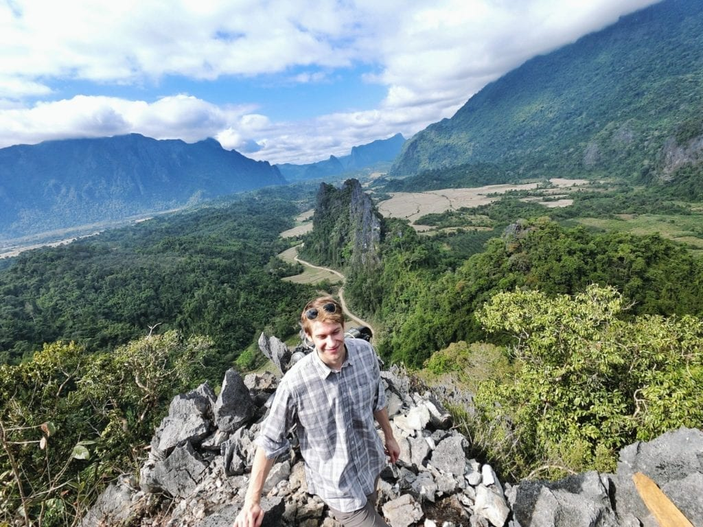 Nam Xay, Vang Vieng – view from 400m above