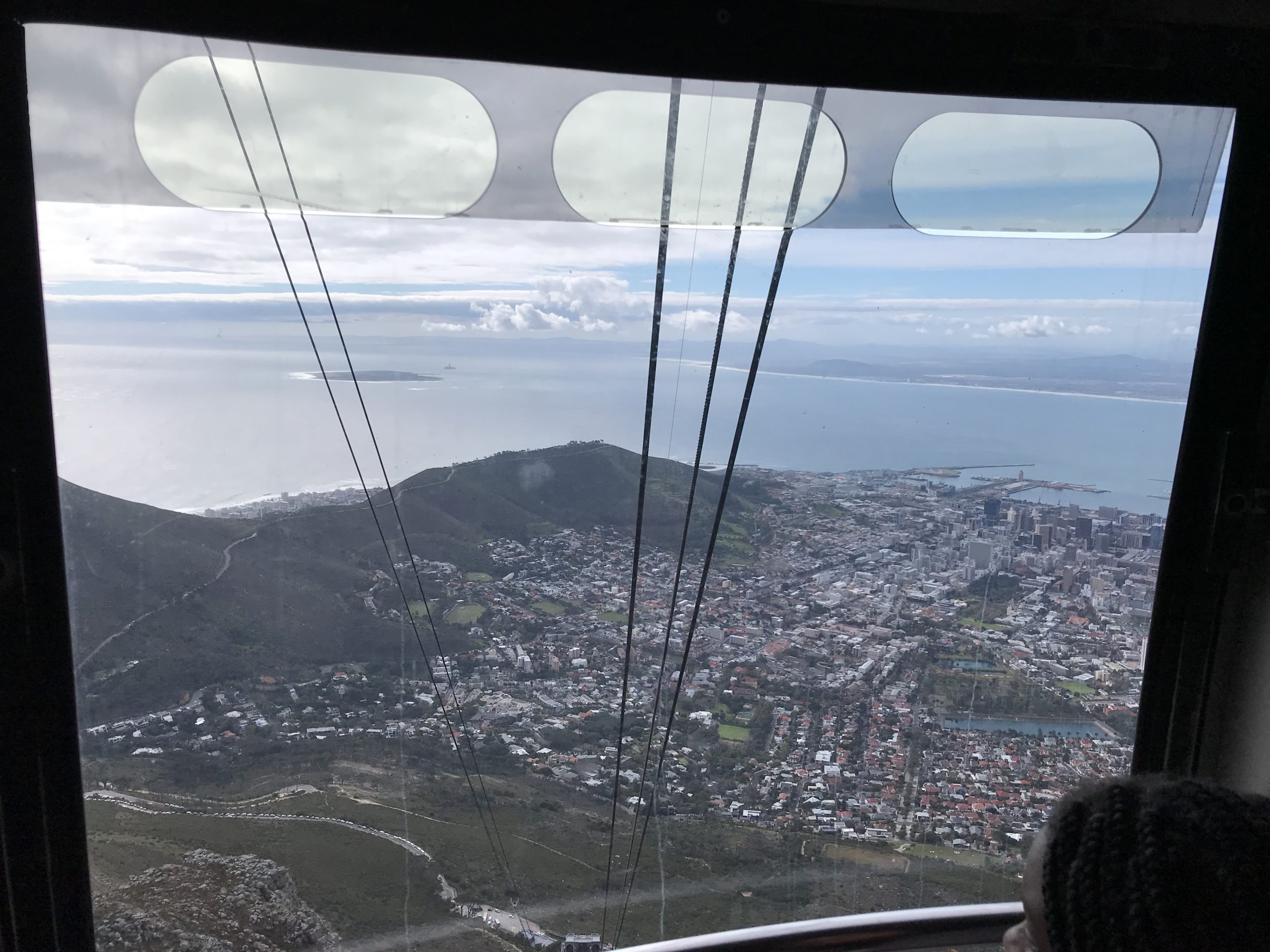 Going down on the cable car