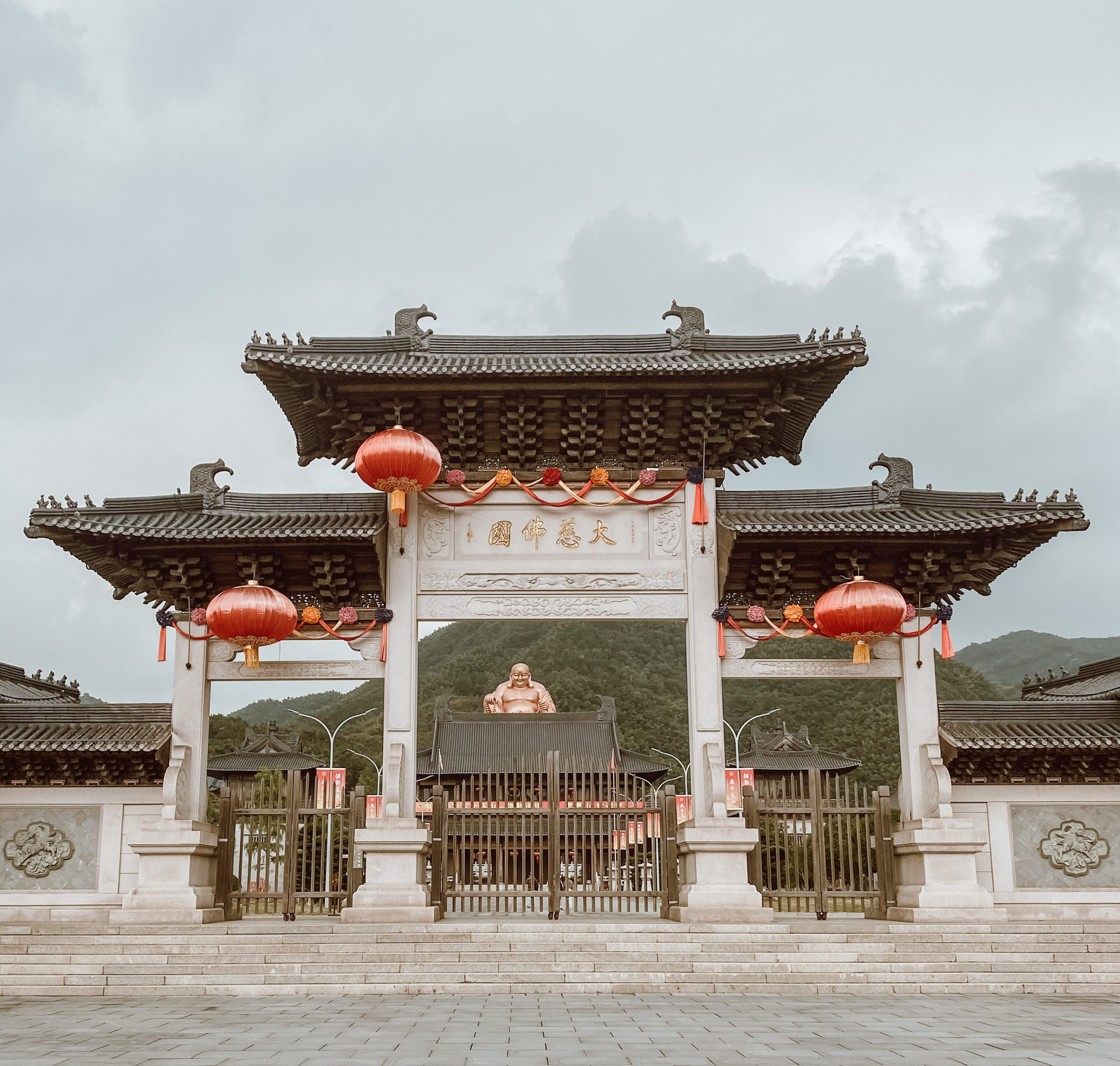 Giant Looking Down from Above – Ningbo's Golden Buddha