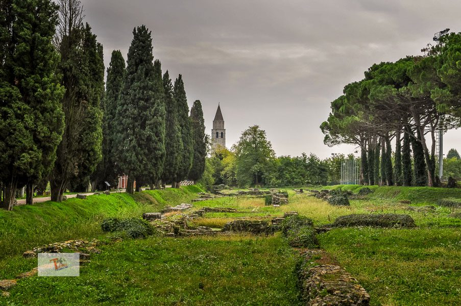 Aquileia: view of part of the archaeological area