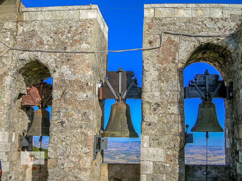 Erice, bell tower, the three bells