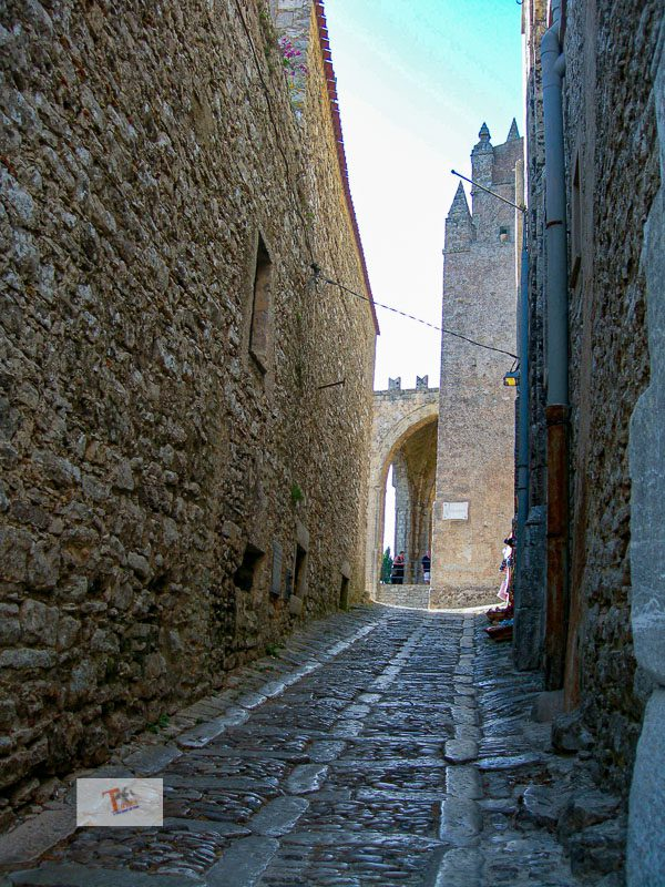Erice, alley in the historic center