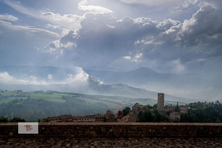 San leo, panorama from the Rocca